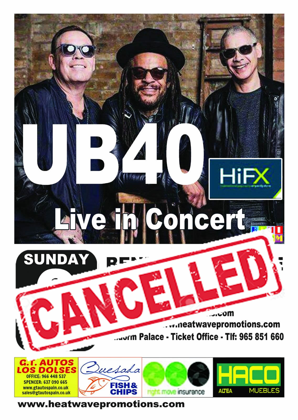 ub40 cancelled