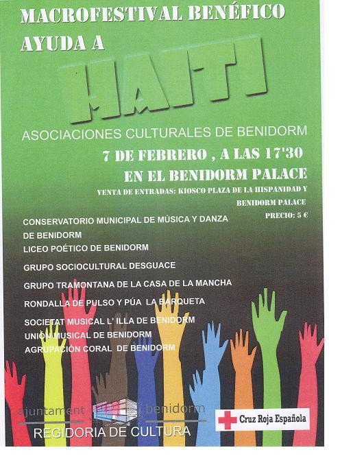 Benidorm supports Haiti