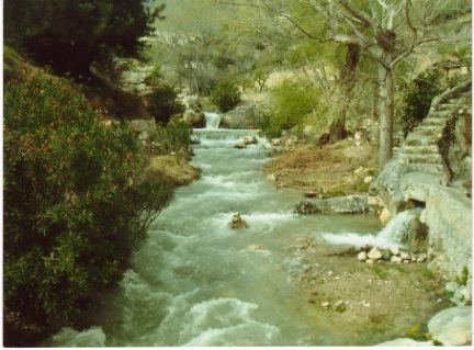 River at the Baix windmill Sella